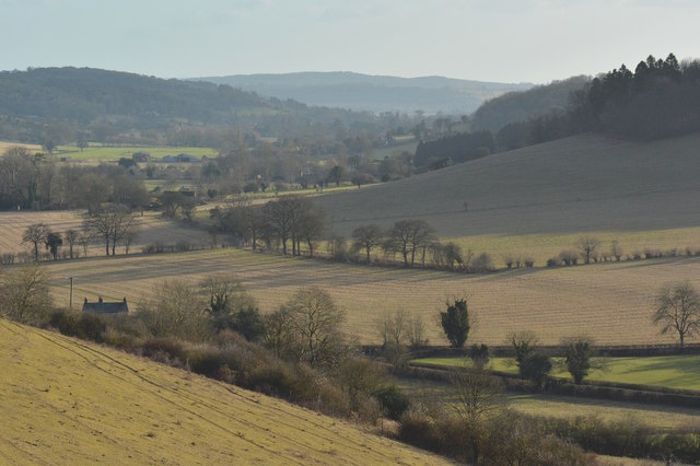 Die Chilterns bei Turville.   © Copyright Edmund Shaw and   licensed for reuse under this Creative Commons Licence.