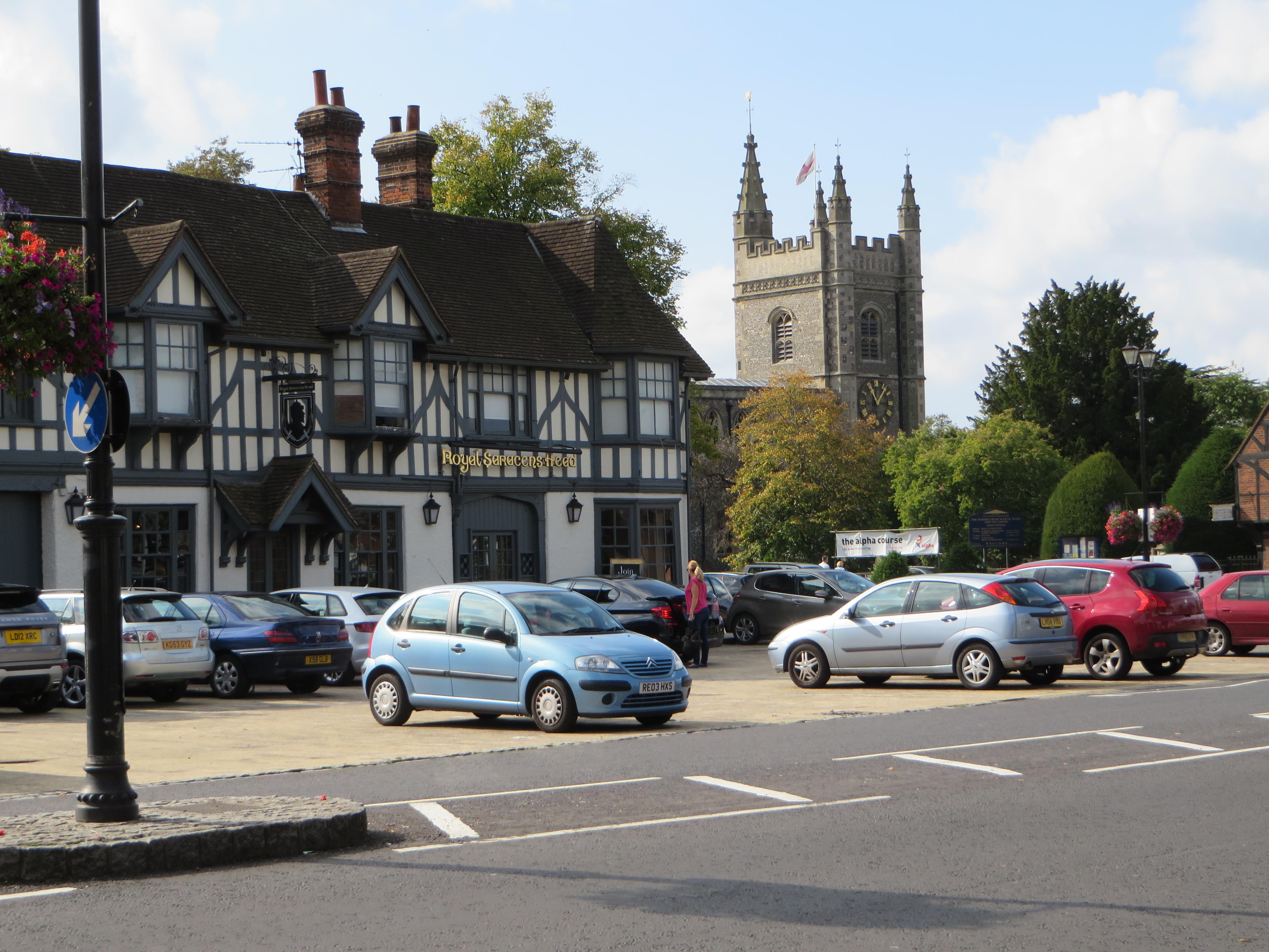 Beaconsfield (Buckinghamshire) im Burnham Hundred. Eigenes Foto.