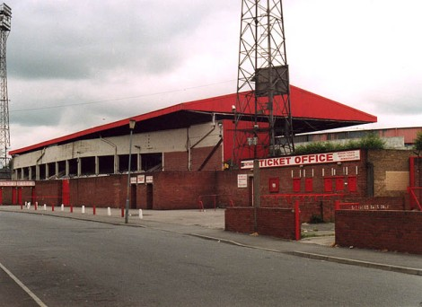 Ayresome Park, das ehemalige Stadion des Middlesborough Football Clubs.   © Copyright Stephen McCulloch and   licensed for reuse under this Creative Commons Licence.
