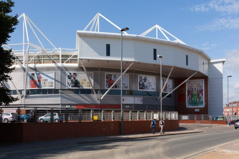 St Mary's Stadium in Southampton.    © Copyright Peter Facey and   licensed for reuse under this Creative Commons Licence.