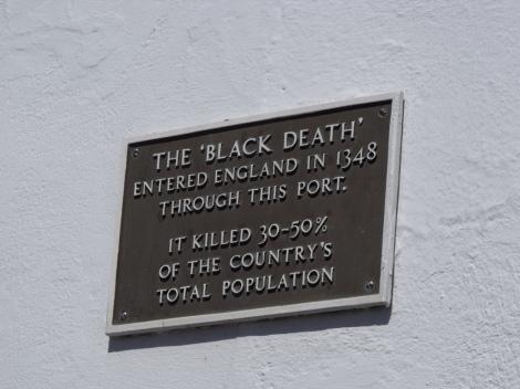 Erinnerungsplakette am Hafen von Weymouth. Author: Elliott Brown. Creative Commons 2.0