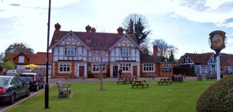 The Dog and Partridge in Yateley (Hampshire).    © Copyright Len Williams and   licensed for reuse under this Creative Commons Licence.
