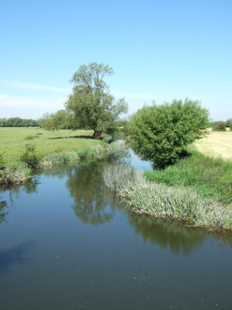"Der ""Grenzfluss"" Thame bei Ickford und Tiddington.    © Copyright Rob Farrow and   licensed for reuse under this Creative Commons Licence."