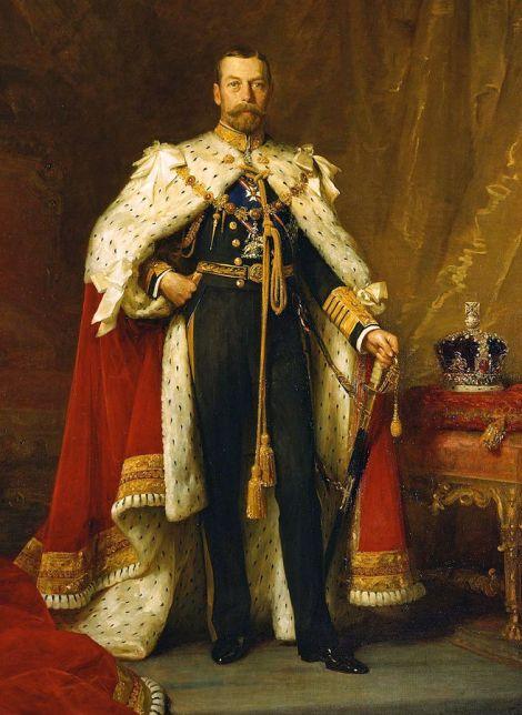 König George V., der nach Meinung Halls unrechtmäßig auf dem Thron saß. This work is in the public domain.