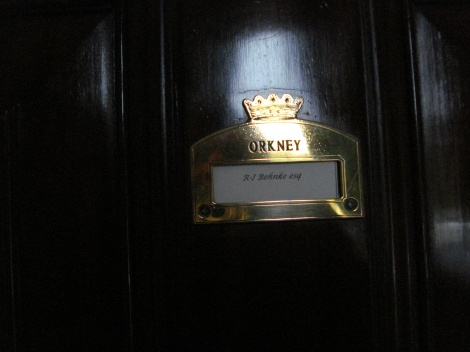 Die Zimmer meiner Orkney-Suite im Cliveden Hotel, benannte nach einem früheren Besitzer von Cliveden und Taplow Court. Eigenes Foto.