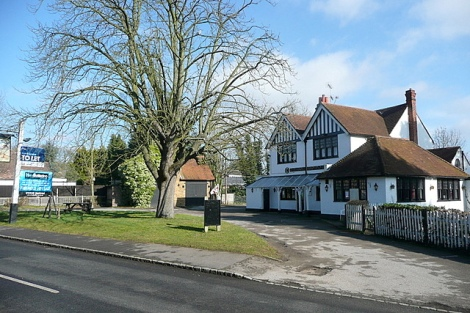 The Dog & Pot in Stoke Poges.    © Copyright Graham Horn and   licensed for reuse under this Creative Commons Licence.