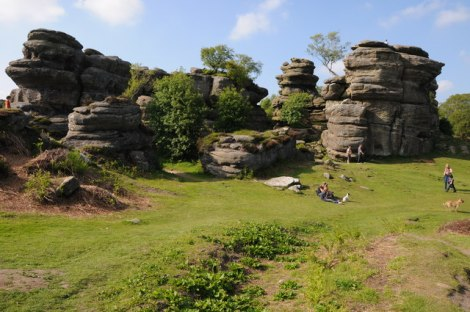 Die Brimham Rocks im Nidderdale (North Yorkshire).   © Copyright Philip Halling and licensed for reuse under this Creative Commons Licence.