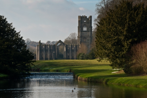 Fountains Abbey in North Yorkshire.   © Copyright Ian Capper and licensed for reuse under this Creative Commons Licence.