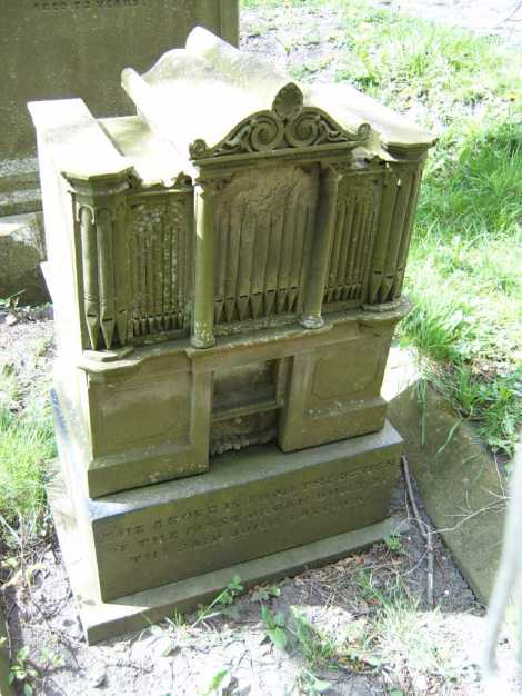 The Kildwick Organ Grave. With friendly permission of