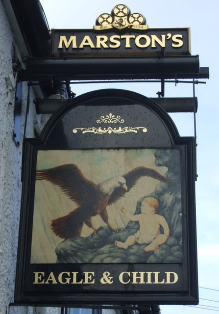 The Eagle and Child in Leyland.    © Copyright JThomas and   licensed for reuse under this Creative Commons Licence.