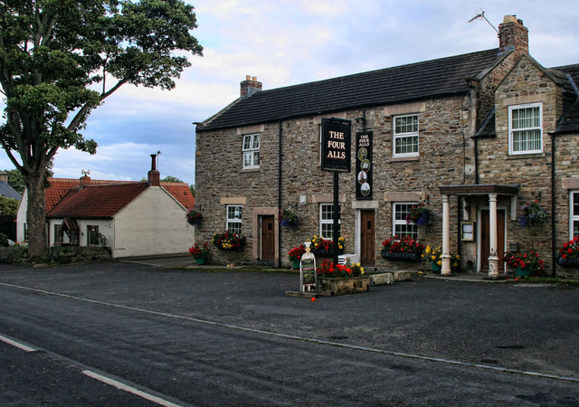The Four All in Ovington.  © Copyright Peter McDermott and licensed for reuse under this Creative Commons Licence.