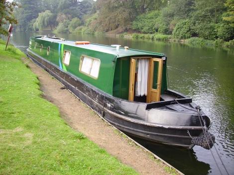 Das narrowboat, mit dem ich eine Fahrt auf dem Avon unternahm. Eigenes Foto.