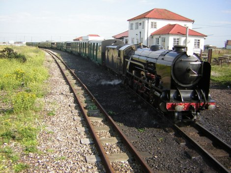 Romney, Hythe and Dymchurch Railway   © Copyright Kenneth Yarham and licensed for reuse under this Creative Commons Licence.