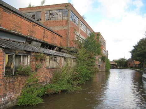 Was von der einst florierenden Hutindustrie in Atherstone übrigblieb: Die Britannia Works.   © Copyright Nigel Cox and licensed for reuse under this Creative Commons Licence.