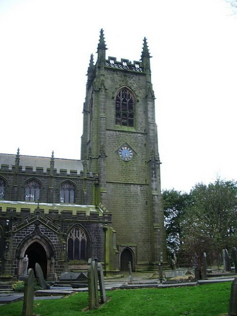 St Thomas the Apostle in Heptonstall (West Yorkshire).   © Copyright Alexander P Kapp and licensed for reuse under this Creative Commons Licence.