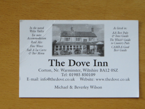 Meine mitgebrachte Visitenkarte des Pubs. Eigenes Foto.