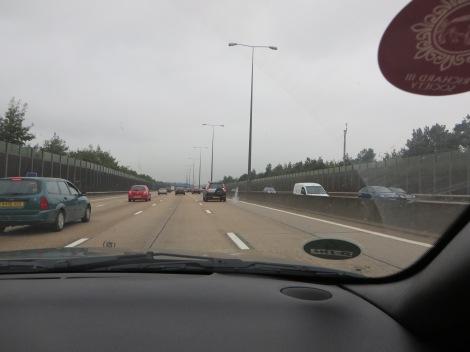 Unterwegs auf der M25. Eigenes Foto.