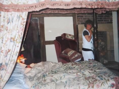 Unser Four Poster Bed. Eigenes Foto.