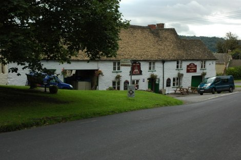 The Old Crown in Uley.    © Copyright Philip Halling and   licensed for reuse under this Creative Commons Licence.