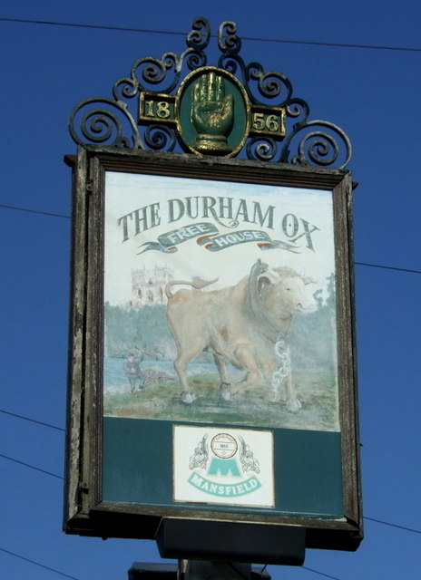The Durham Ox bei Denby Village (Derbyshire).    © Copyright JThomas and   licensed for reuse under this Creative Commons Licence.