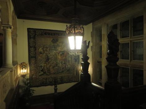 Eine Treppe im Schloss. Eigenes Foto.
