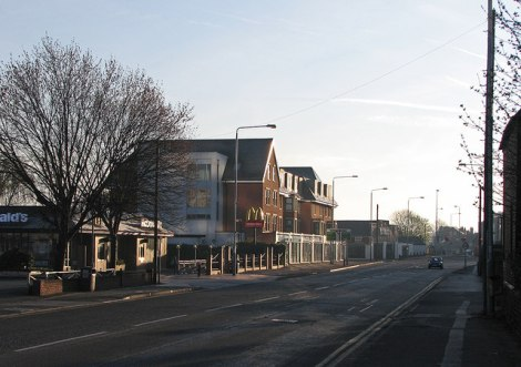 Die Radcliffe Road in West.  © Copyright John Sutton and licensed for reuse under this Creative Commons Licence.