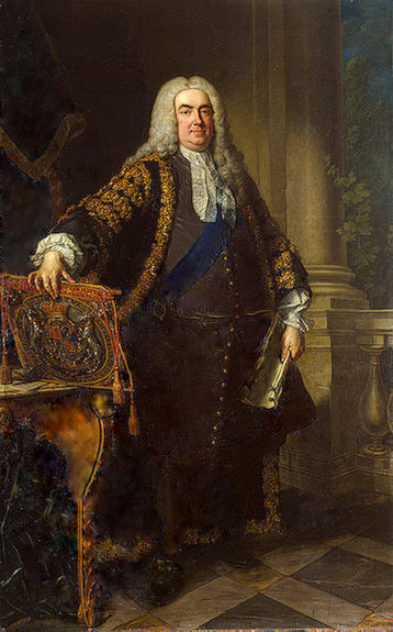 Platz 1 der Charts: Robert Walpole, 1st Earl of Orford. This image is in the public domain due to its Age.