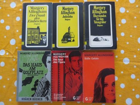 Eine Auswahl meiner Margery Allingham-Romane.