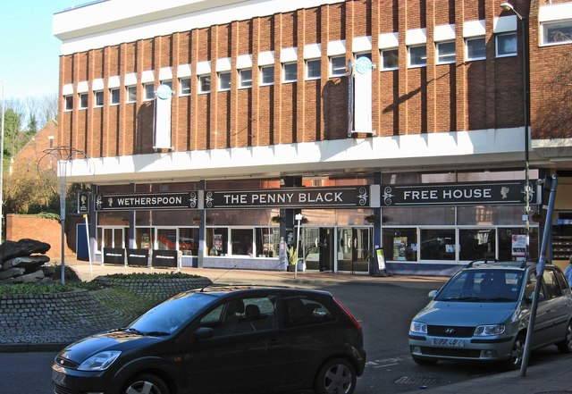 Wetherspoons Penny Black Pub in Kidderminster.  © Copyright P L Chadwick and licensed for reuse under this Creative Commons Licence.