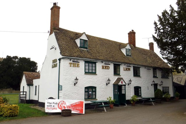 Wo alles endete: The Red Lion in Northmoor (Oxfordshire).  © Copyright Steve Daniels and licensed for reuse under this Creative Commons Licence.