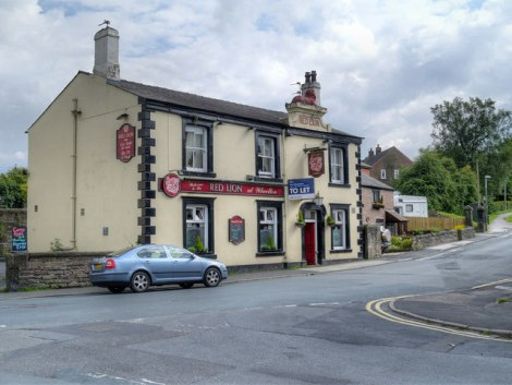 Station Nummer 2: The Red Lion in Wheelton (Lancashire).   © Copyright David Dixon and licensed for reuse under this Creative Commons Licence.