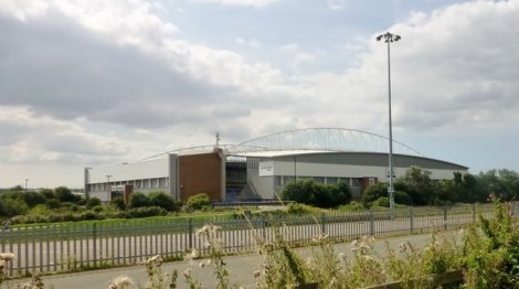 Wigan Athlectics DW Stadium.   © Copyright Rude Health and licensed for reuse under this Creative Commons Licence.