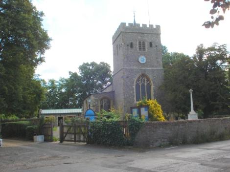 St Mary the Virgin in Denham (Buckinghamshire). Hier findet die Trauerfeier für Eric Calder statt. Eigenes Foto.