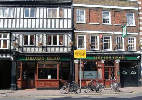 The Druid's Head in Kingston-upon-Thames (Greater London). Author: Jim Linwood. This file is licensed under the Creative Commons Attribution 2.0 Generic license.