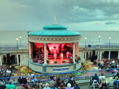 Auftritt der Abba Tribute Band im Eastbourne Bandstand.   © Copyright PAUL FARMER and licensed for reuse under this Creative Commons Licence.