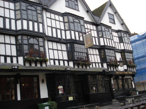The Llandoger Trow Inn in Bristol. Eigenes Foto.