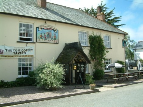 The Tom Cobley Tavern in Spreyton (Devon).   © Copyright Robin Lucas and licensed for reuse under this Creative Commons Licence.