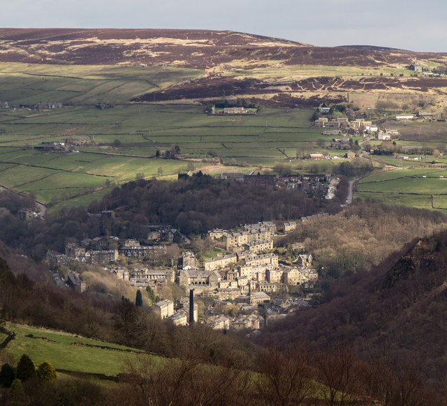 Hebden Bridge in West Yorkshire.  © Copyright Peter McDermott and licensed for reuse under this Creative Commons Licence.