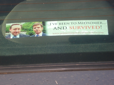 Dieser Aufkleber ziert das Heckfenster meines Autos. Eigenes Foto.