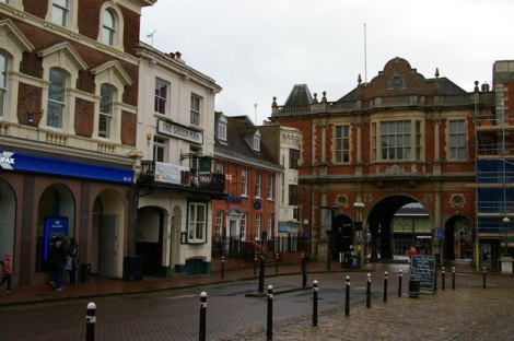 Aylesbury Market Square.    © Copyright Christopher Hilton and licensed for reuse under this Creative Commons Licence.