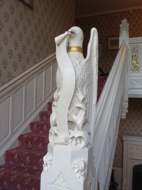 Der Treppenaufgang. Eigenes Foto.