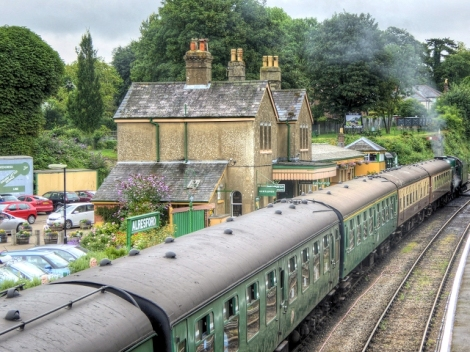 Die Watercress Line in Hampshire.   © Copyright David Dixon and licensed for reuse under this Creative Commons Licence.