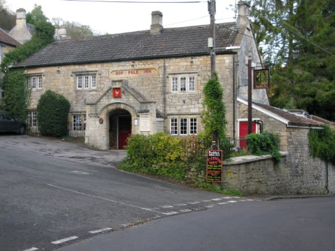 The Hop Pole Inn in Limpley Stoke.   © Copyright Nick Smith and licensed for reuse under this Creative Commons Licence.