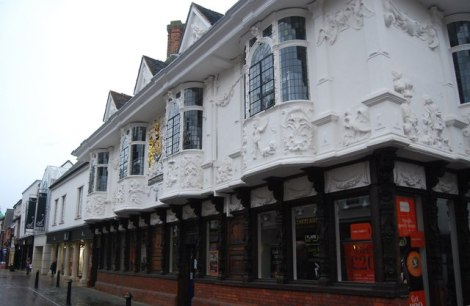 The Ancient House in Ipswich (Suffolk).   © Copyright N Chadwick and licensed for reuse under this Creative Commons Licence.