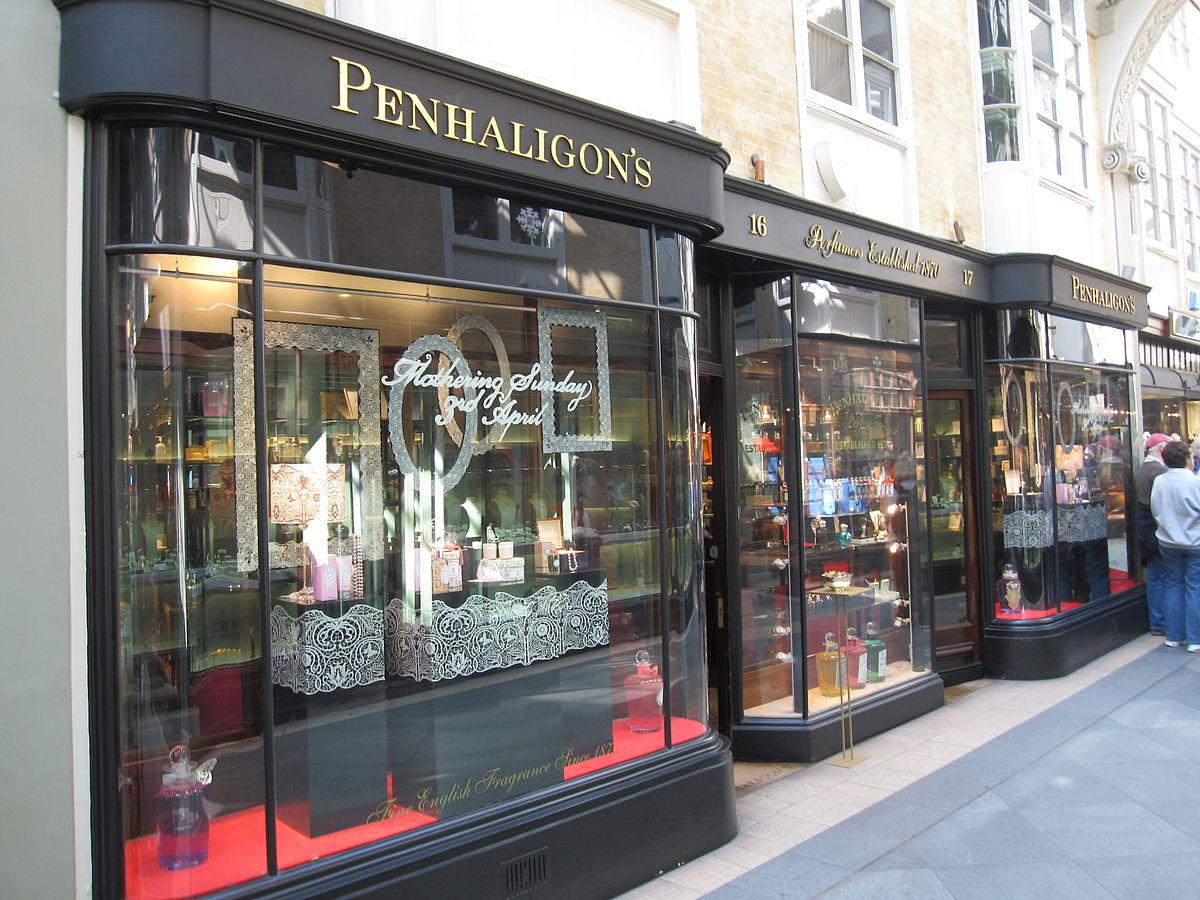 Penhaligon's in der Londoner Burlington Arcade. Author: Gryffindor. This file is licensed under the Creative Commons Attribution-Share Alike 3.0 Unported license.