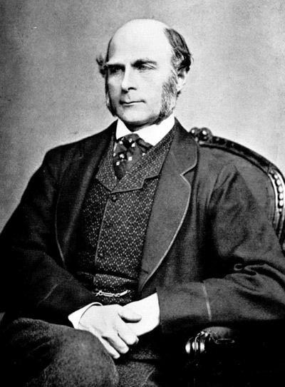 Sir Francis Galton, der Mann, der den Frauen nachspähte.  Diese Bilddatei ist gemeinfrei, weil ihre urheberrechtliche Schutzfrist abgelaufen ist.